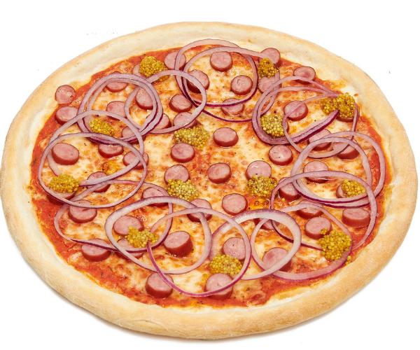 Піца з мисливськими ковбасками